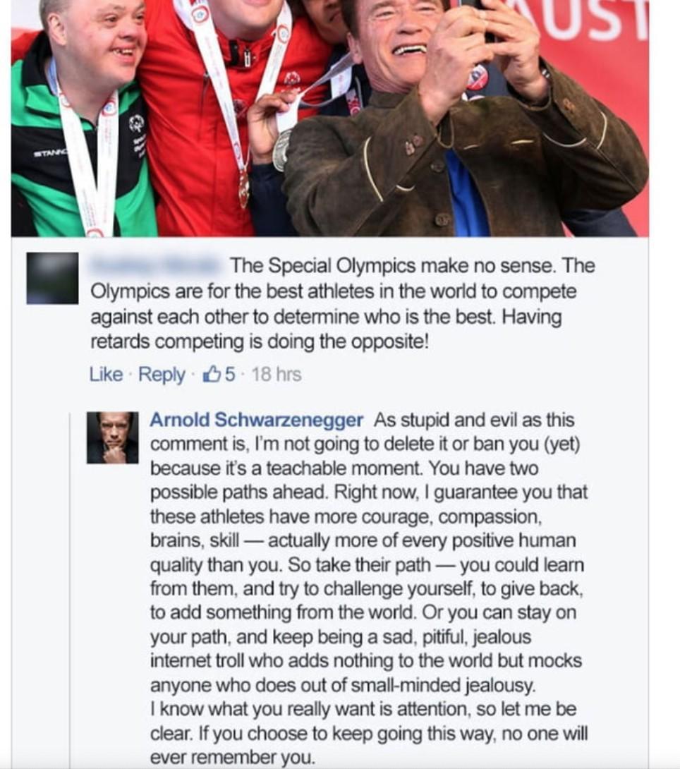 Schwarzenegger disst Troll